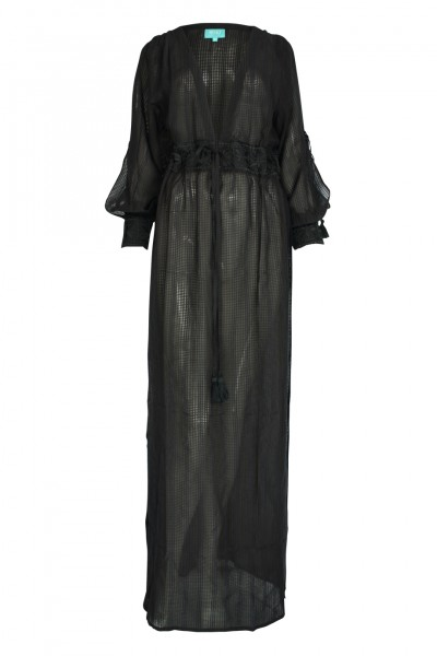 Santorini maxi dress in black