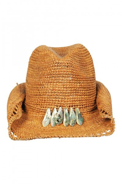 Cowboy hat in Mocca with pearl details
