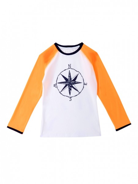 Girls Key West Swim Shirt Orange
