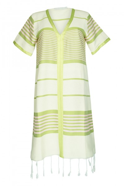 Striped dress in green