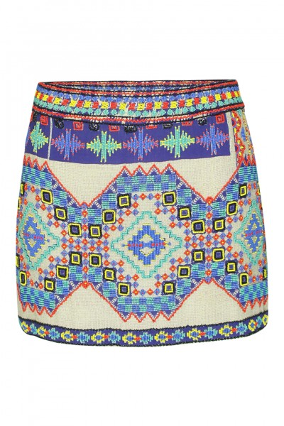 Navajo skirt with pearl embroidery
