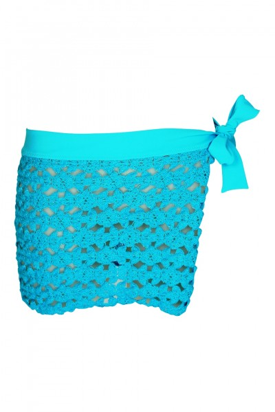 Pareo crocheted with cotton lace