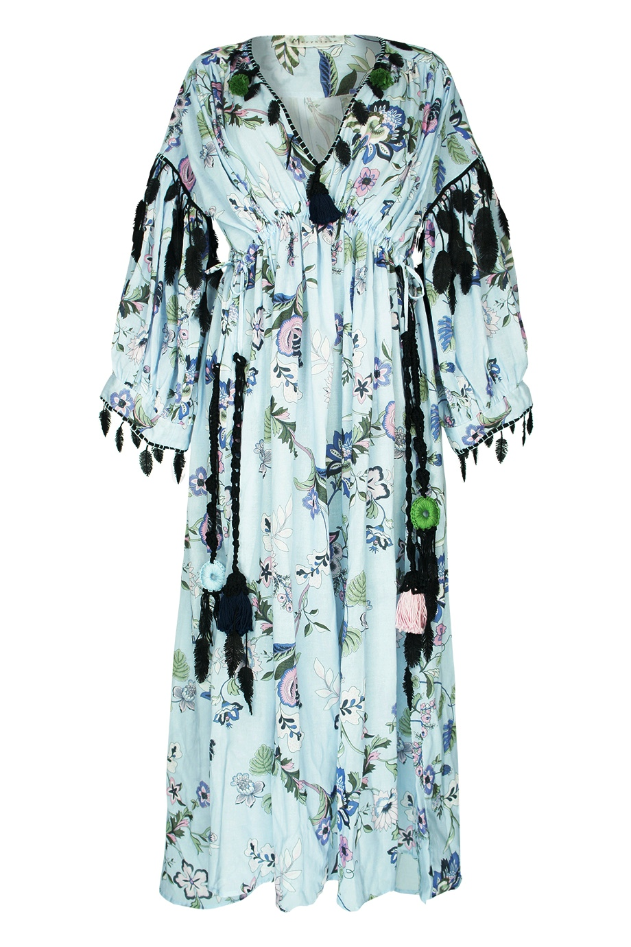 3d5aef6dfce Marybloom - Floral-printed cotton maxi dress in sky blue - WHAT S NEW ...