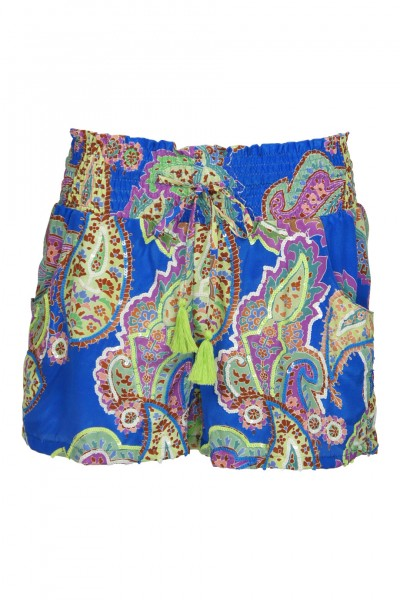 Multicolor Silkshort with sequins