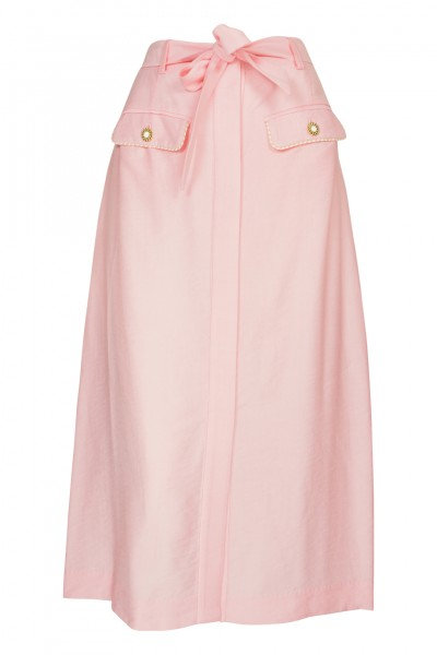 Piped Luxe Skirt Pink