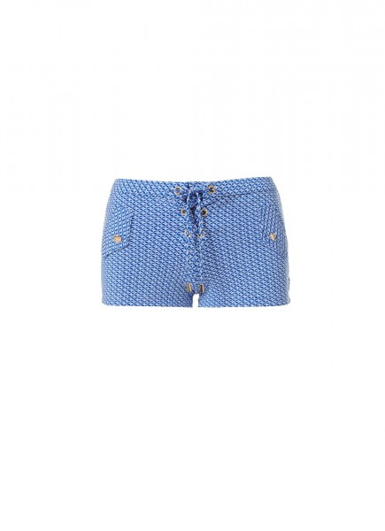 Sophia Short Mosaic Blue