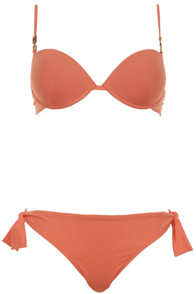 FENDI | Push Up Bikini mit Bügel in leuchtendem Orange