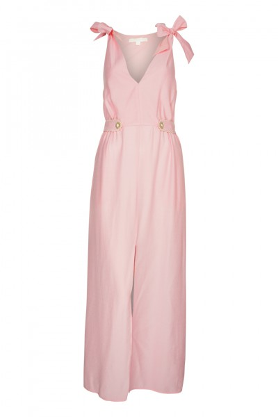Piped Luxe Maxikleid Rosa