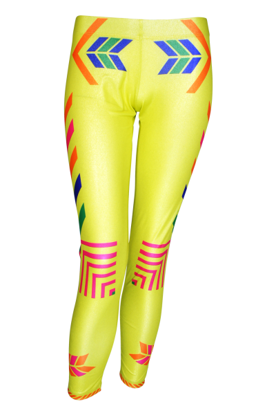 Navajo Leggings in yellow