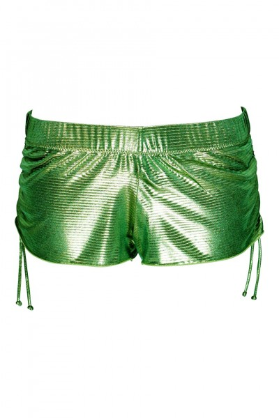 Short Metallic-Look in green