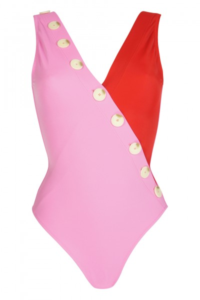 Kate swimsuit pink/red