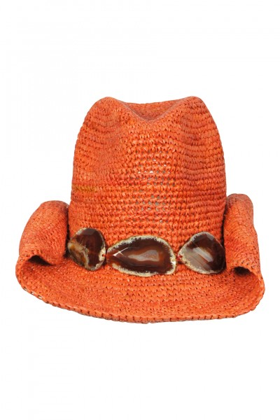 Cowboy hat in Melon with stones