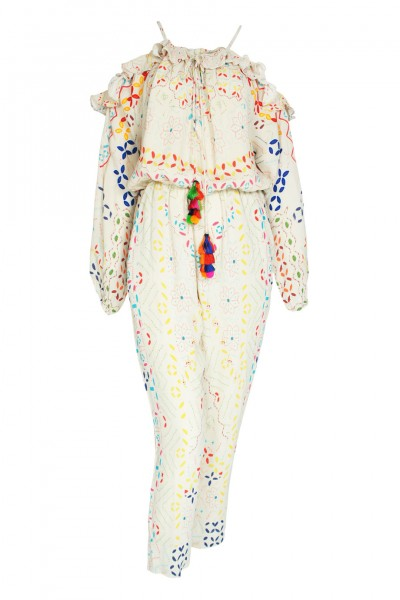 Sindhi embroidered jumpsuit