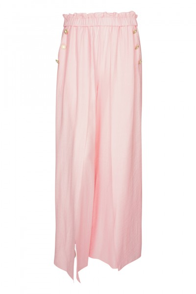 Piped Luxe Hose Rosa