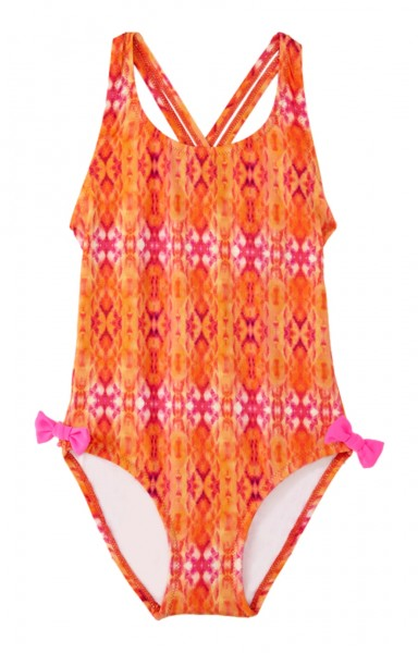 Girls Clara Swimsuit Coral Print