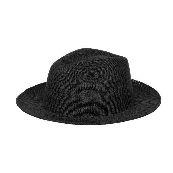 Rio straw hat in black