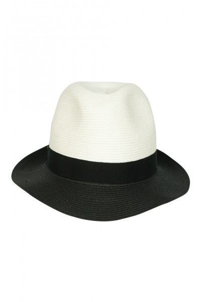 Two-Tone Fedora with black grosgrain