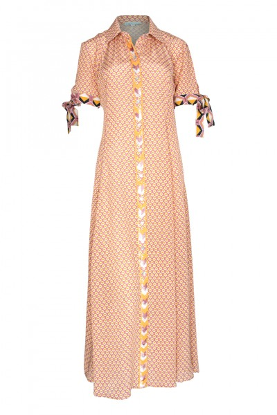 Geo-Printed Maxi Dress Rose