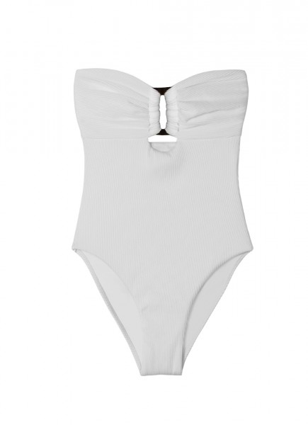 White Pearl Padded Bandeau Swimsuit
