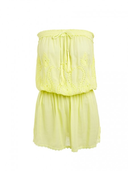 Bandeau Kleid Fruley Yellow