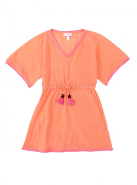 Girls Lilly& Poppy Kaftan Coral