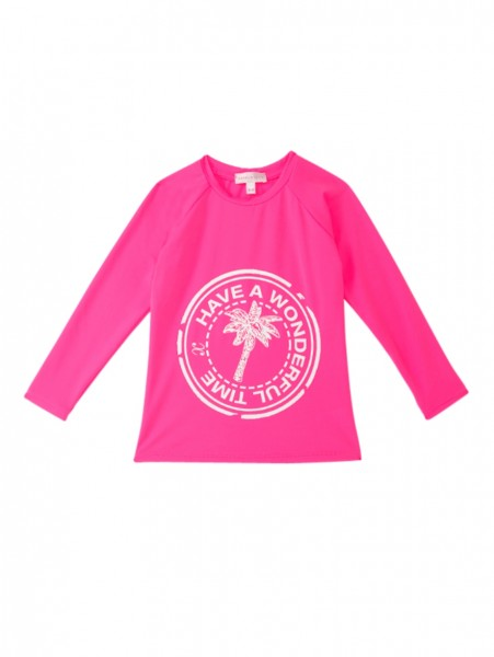 Girls Clara Swim Shirt Pink