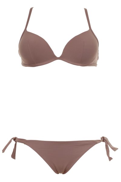 FISICO | Push Up Bikini mit Bügel Triangle Braun