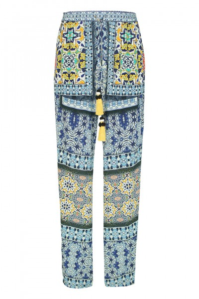 Mosaic pant with tassels