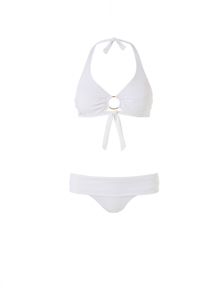Brussels Wired Bikini White Ribbed