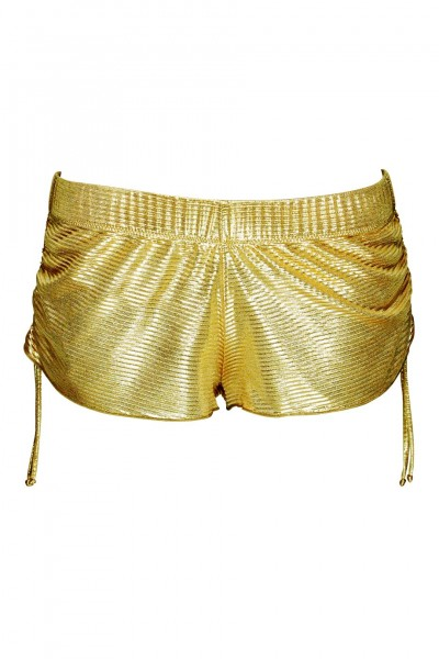 Short Metallic-Look in gold