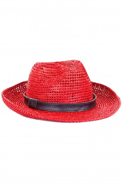 Laurel panama hat rouge