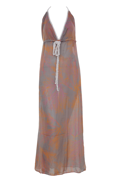BELUSSO | Maxi Beachdress in grau orange