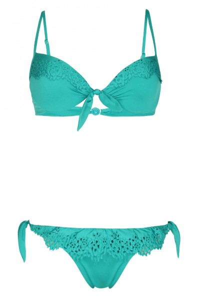 Wired Push Up Bikini with Lace Detail