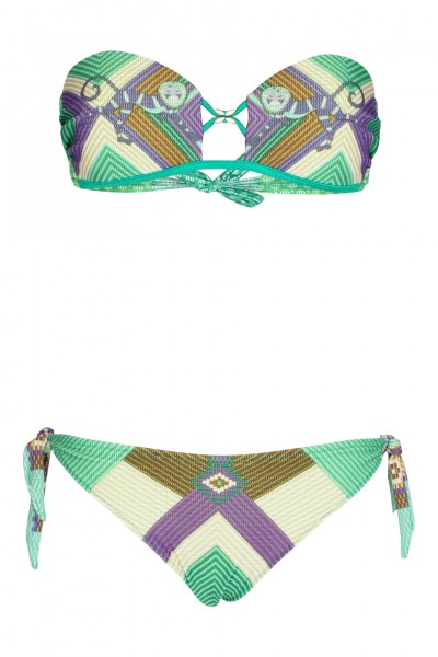Dschungel Push up Bandeau Bikini