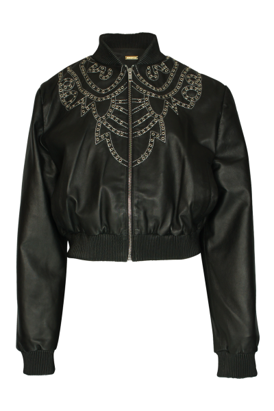 Dodo Bar Or Leder-Jacke