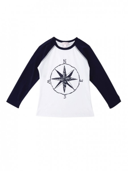 Girls Key West Swim Shirt Navy