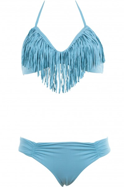 Triangle bikini, audrey fringe top, monique bottom